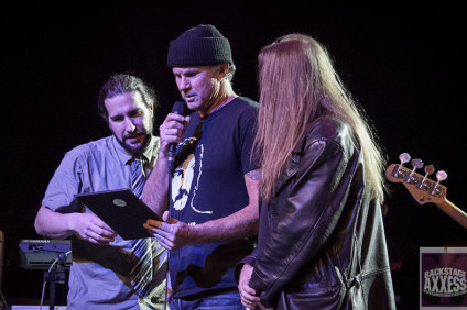Chad Smith Receiving his award at Bonzo Bash 2016