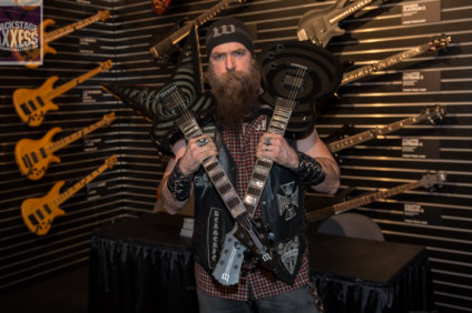 Zakk Wylde & Wylde Audio Press conference @ Schecter Guitar Research booth Anaheim, California January 22, 2016