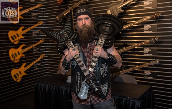 Zakk Wylde & Wylde Audio Press conference @ Schecter Guitar Research booth Anaheim, California January 22, 2016